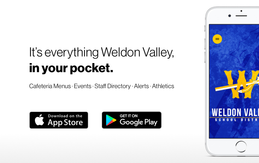 Weldon Valley School's New App