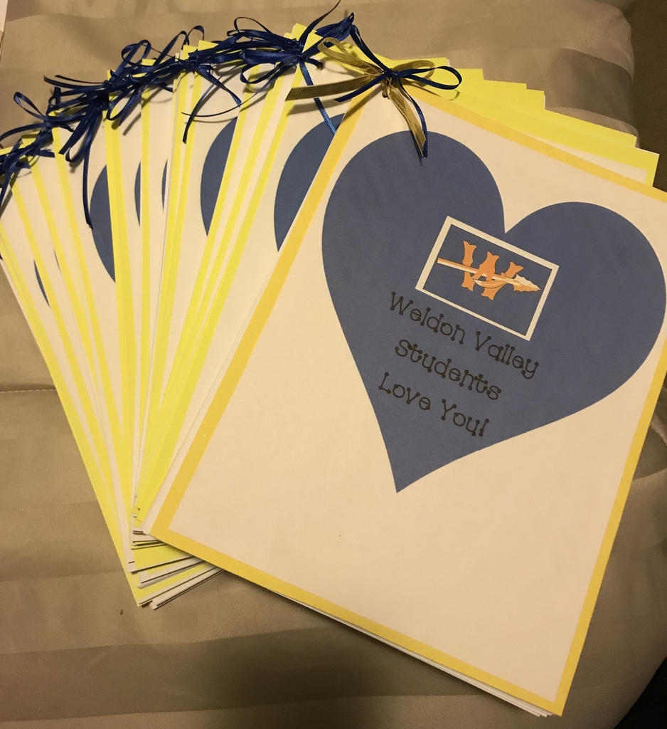 All of the cards were printed and put into packets for the residents!